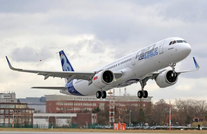 Airbus начал летные испытания ремоторизованного самолета A321neo