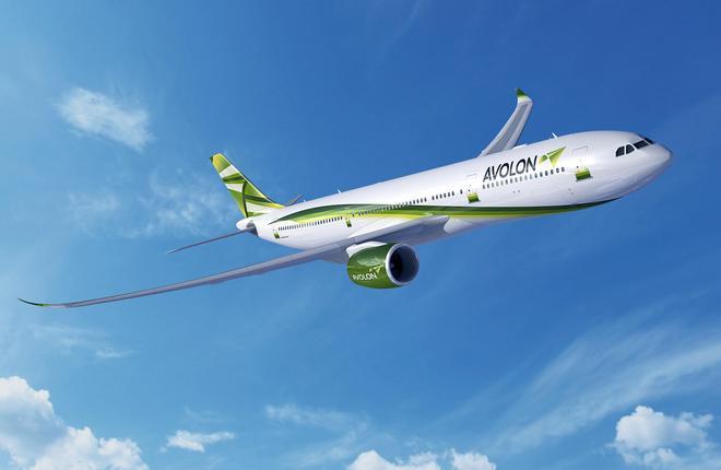 Самолет Airbus A330-900neo в ливрее лизинговой компании Avolon
