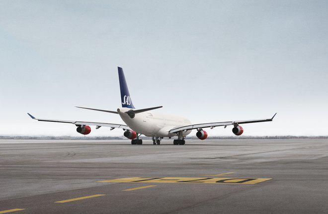 Самолет Airbus A380 авиакомпании SAS