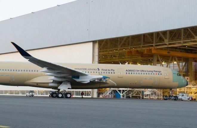 Airbus A350XWB с увеличенной дальностью полета