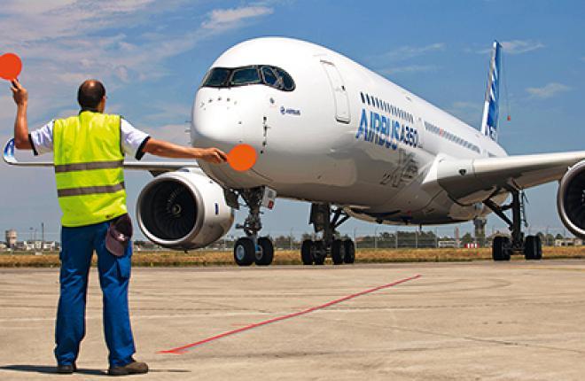 в программе летных испытаний A350 будет задействовано 5 ВС