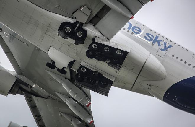 Основное шасси самолета A380