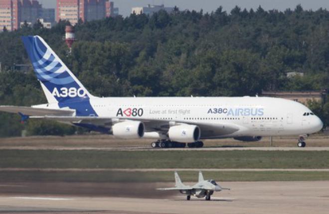 Airbus покажет на МАКС-2013 самолет A380