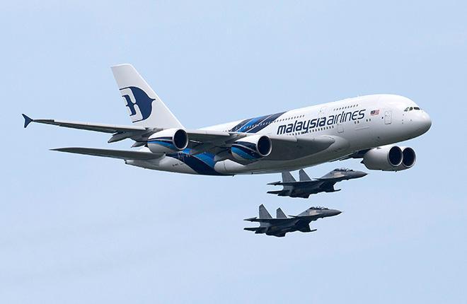 Самолет Airbus A380 авиакомпании Malaysia Airlines
