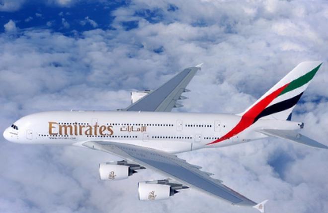 Авиакомпания Emirates полетела в Рим на самолете Airbus A380