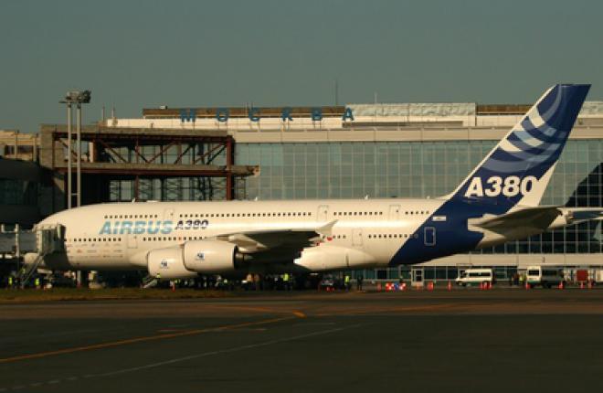 Airbus А380 впервые в Москве