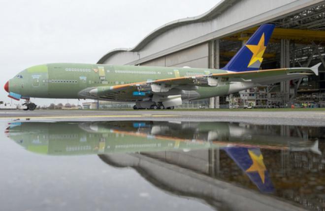 Собран первый самолет А380 для японской авиакомпании