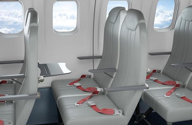 На самолеты ATR поставят облегченные кресла Titanum Seat