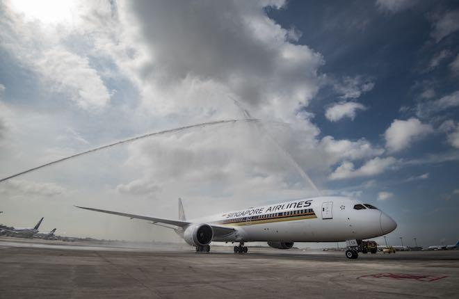 самолет Boeing 787-10 авиакомпании Singapore Airlines
