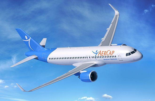 самолет Airbus A320 в ливрее Aercap