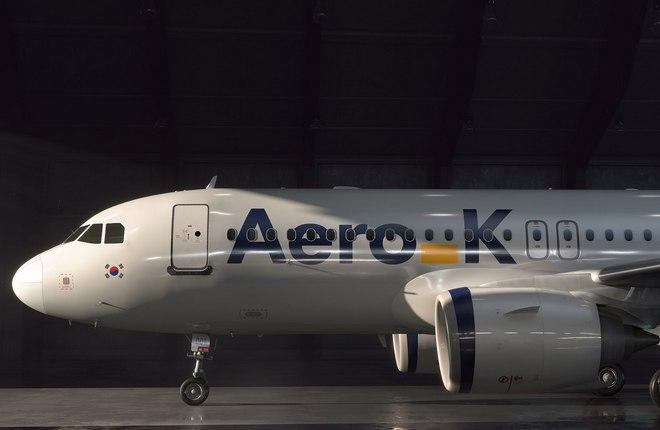 Самолет Airbus A320 южнокорейского стартап-лоукостера Aero K