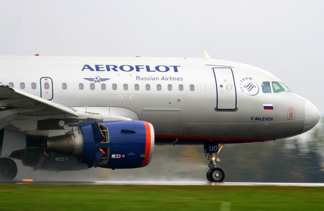"Самолет A319 авиакомпании ""Аэрофлот"""
