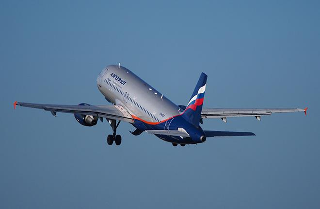 "Cамолет Airbus A320 авиакомпании ""Аэрофлот"""