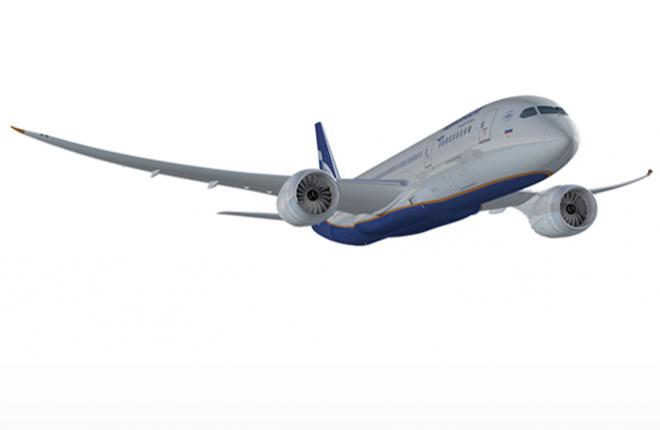 """Компьютерная модель Boeing 787 в ливрее авиакомпании """"Аэрофлот"""""""