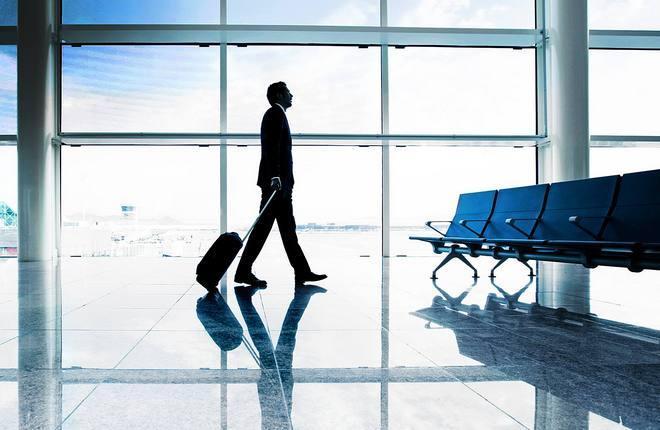 пассажир в аэропорту