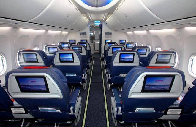 "Салон бизнес-класса самолета Boeing 737 авиакомпании ""Аэрофлот"""