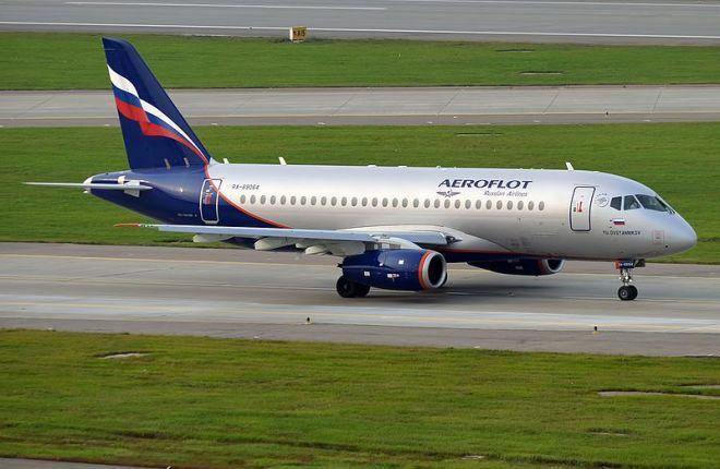 """SSJ 100 в ливрее """"Аэрофлота"""""""