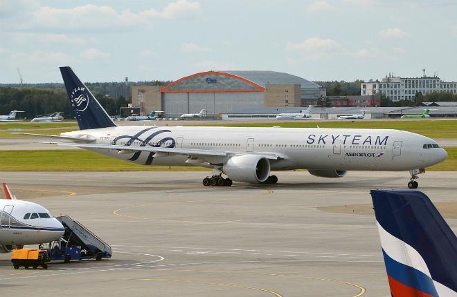 Аэрофлот самолет Boeing 777
