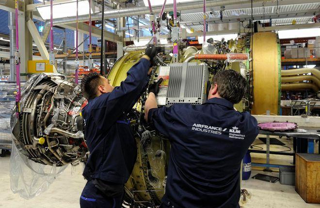 Ремонт авиадвигателя компанией AFI-KLM E&M