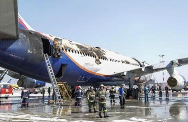 В аэропорту Шереметьево загорелся самолет