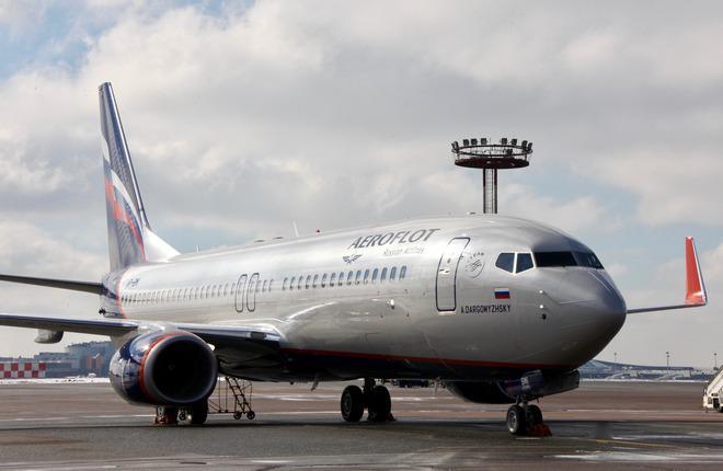 """Парк авиакомпании """"Аэрофлот"""" пополнил еще один самолет Boeing 737-800"""