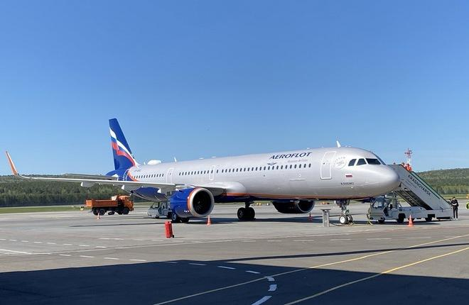 самолет Airbus A321neo авиакомпании Аэрофлот