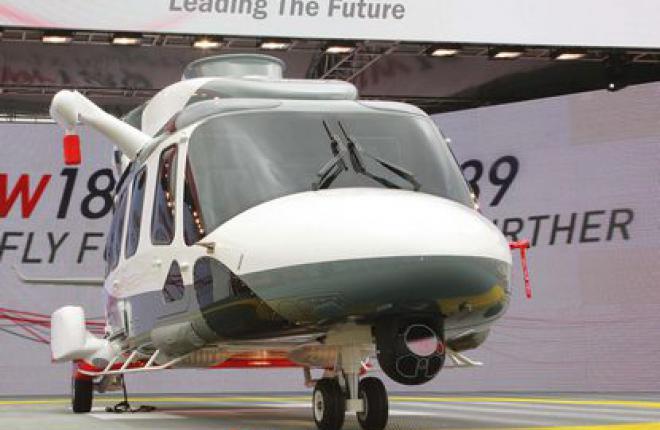 Первый полет AgustaWestland AW189 намечен на ноябрь, а сертификат типа на 2014г