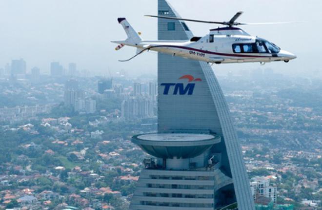 Вертолеты в городе