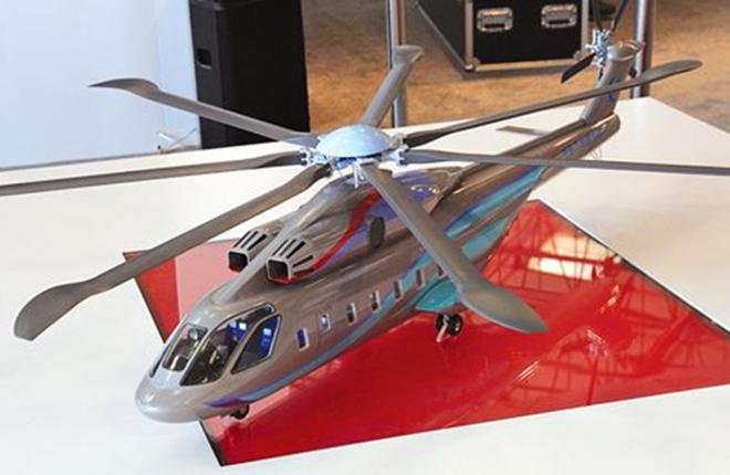 Уменьшенный макет российского-китайского тяжелого вертолета