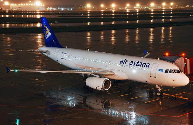 Самолет A320 авиакомпании Air Astana