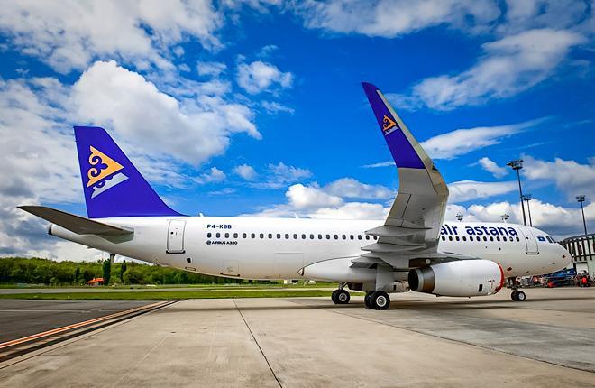 Самолет Airbus A320 авиакомпании Air Astana