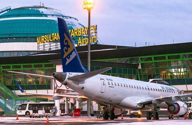 Air Astana в аэропорту Нур-Султан