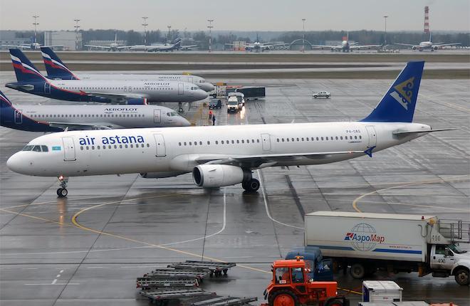 Airbus A321 Air Astana