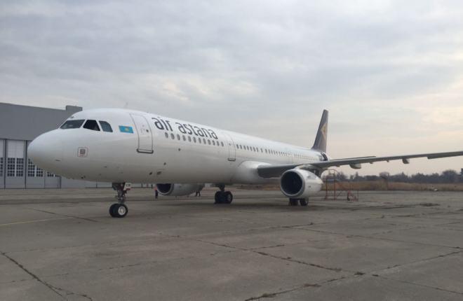 """Провайдер """"С7 Инжиниринг"""" покрасил самолет A321 авиакомпании Air Astana"""