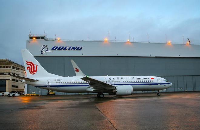 Boeing 737MAX китайской авиакомпании Air China