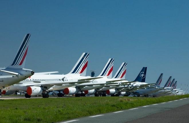 самолеты Air France на стоянке