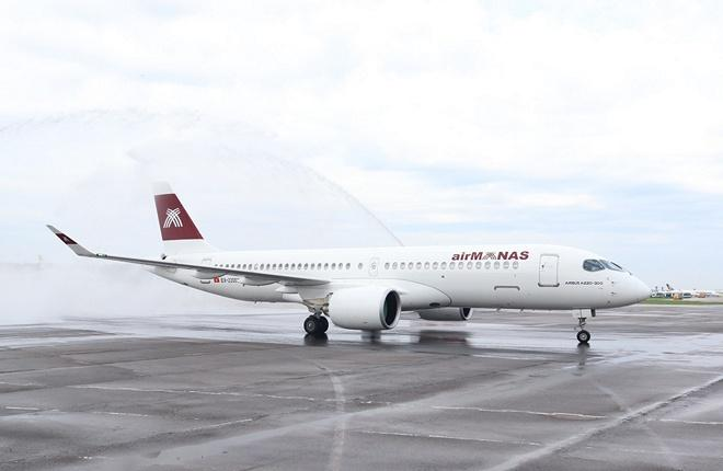 Airbus A220-300 авиакомпании Air Manas