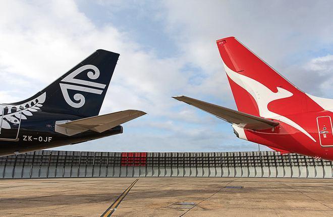 Кили самолетов Air New Zealand и Qantas