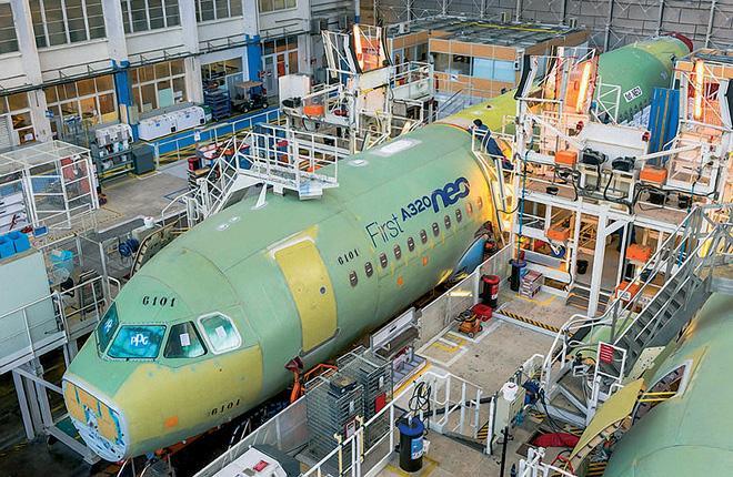 Airbus рассматривает варианты модернизации оборудования салона и бортовых систем для модели A320NEO // Фото: Airbus