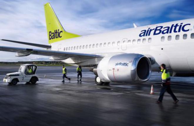 Пассажиропоток авиакомпании airBaltic  в январе возрос на 2%