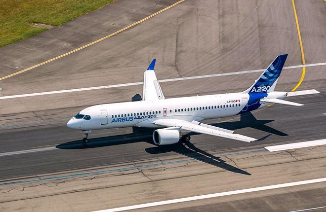 Самолет Airbus A220-300