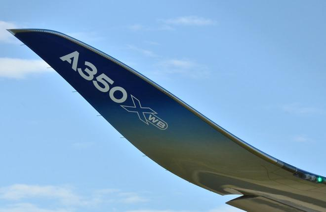 Законцовка крыла самолета Airbus A350XWB