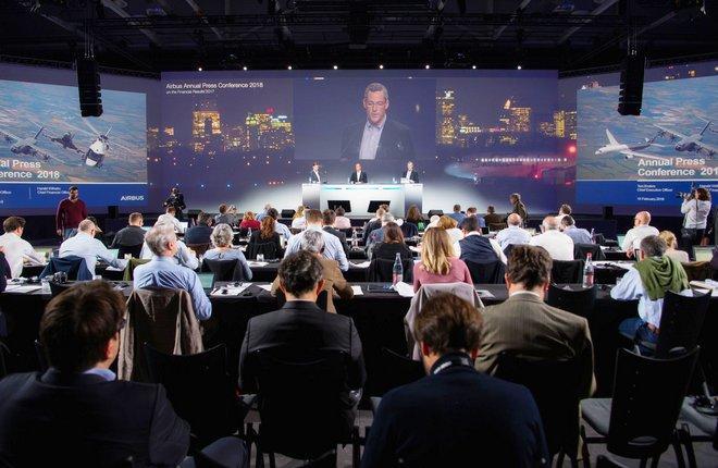 Ежегодная пресс-конференция Airbus