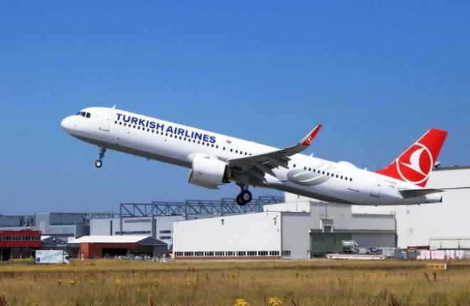 Airbus A321neo Cabin Flex авиакомпании Turkish Airlines