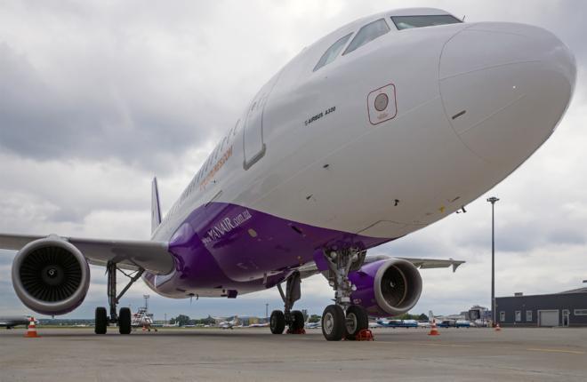 Украинская авиакомпания YanAir получила первый Airbus A321