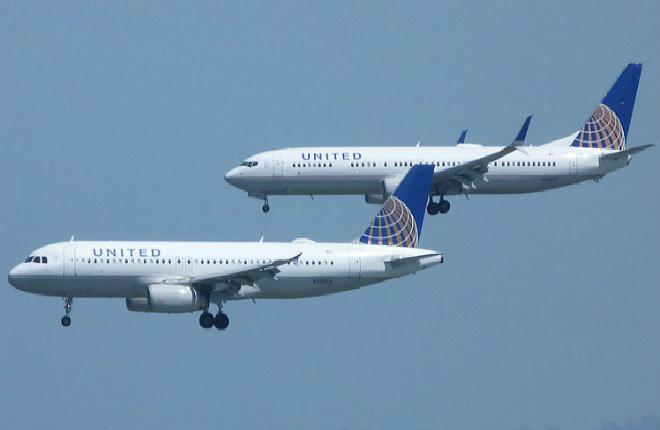 самолеты Airbus и Boeing