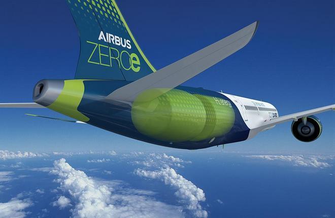 Airbus самолет с водородной силовой установкой
