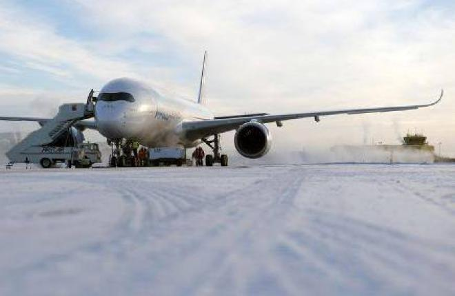 Airbus A350XWB завершил испытания холодом