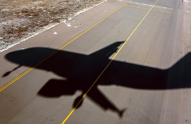 Тень самолета Airbus A320