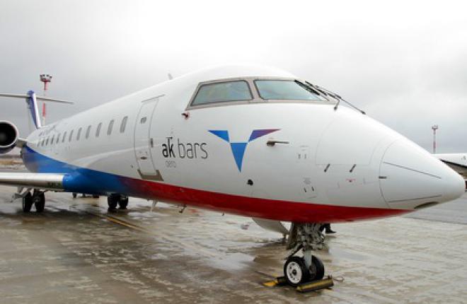 """""""Ак Барс Аэро"""" получила девятый самолет Bombardier CRJ-200"""